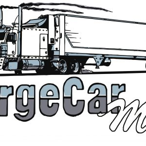 LargeCarMag White Sticker